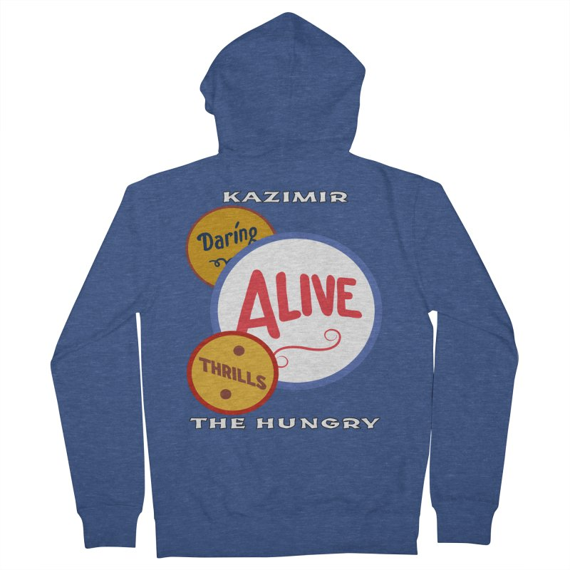 Alive! Men's French Terry Zip-Up Hoody by Kazimir the Hungry Merchandise