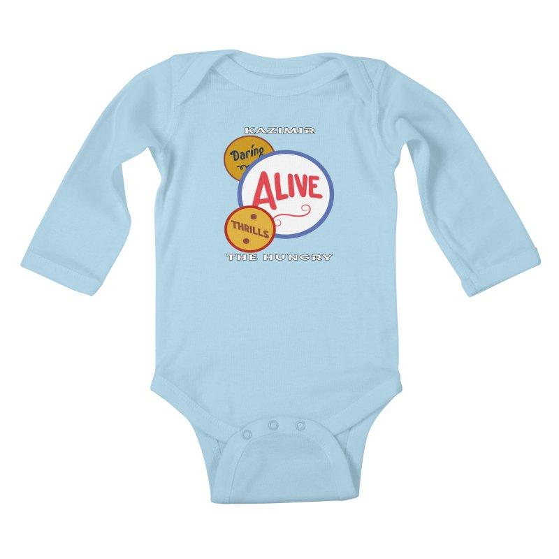 Alive! Kids Baby Longsleeve Bodysuit by Kazimir the Hungry Merchandise