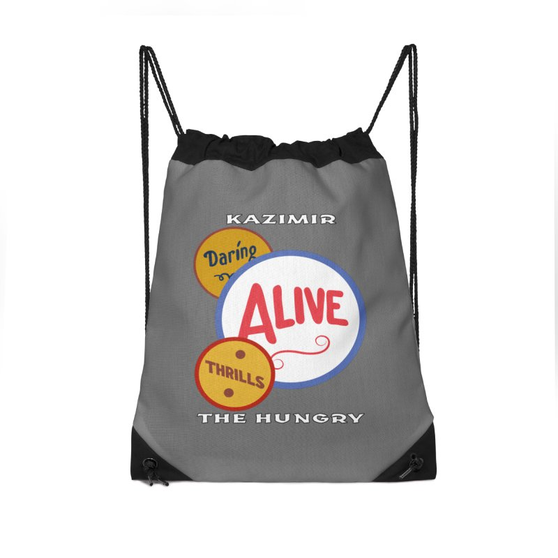 Alive! Accessories Drawstring Bag Bag by Kazimir the Hungry Merchandise