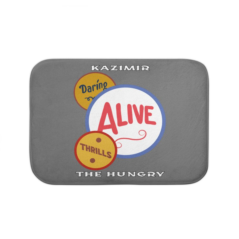 Alive! Home Bath Mat by Kazimir the Hungry Merchandise