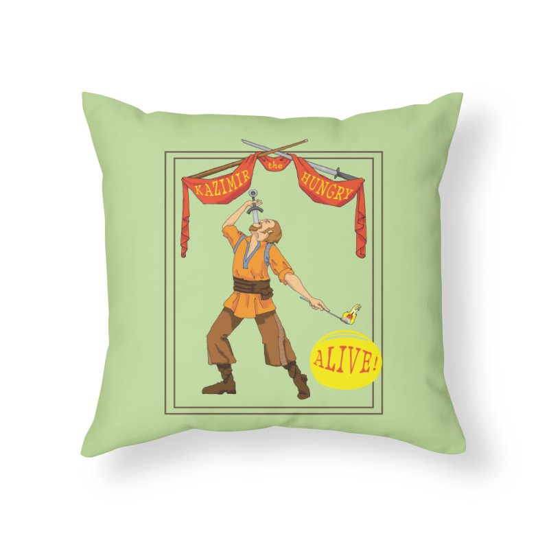 Sideshow Banner Home Throw Pillow by Kazimir the Hungry Merchandise