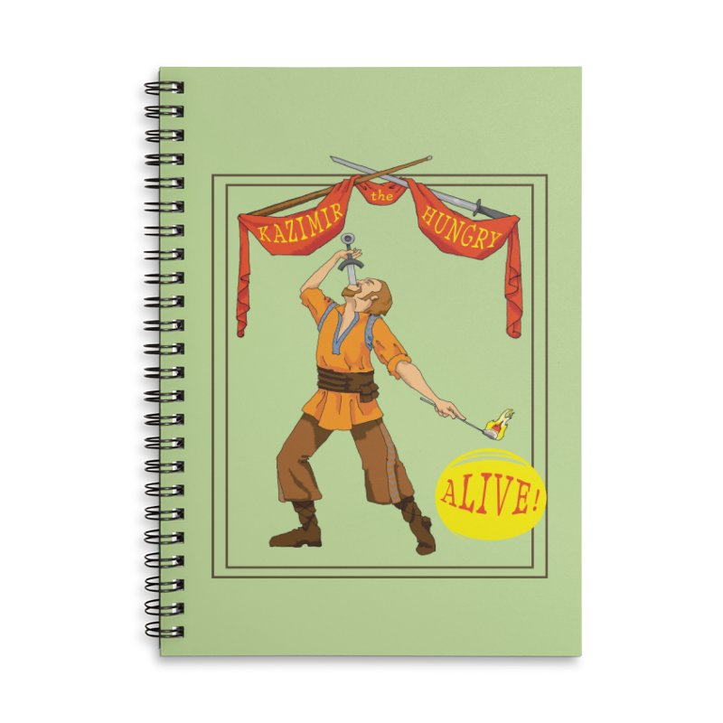 Sideshow Banner Accessories Lined Spiral Notebook by Kazimir the Hungry Merchandise