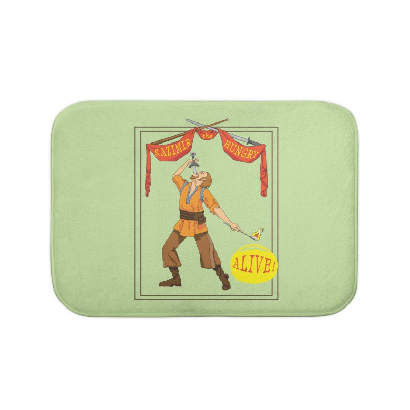Sideshow Banner Home Bath Mat by Kazimir the Hungry Merchandise