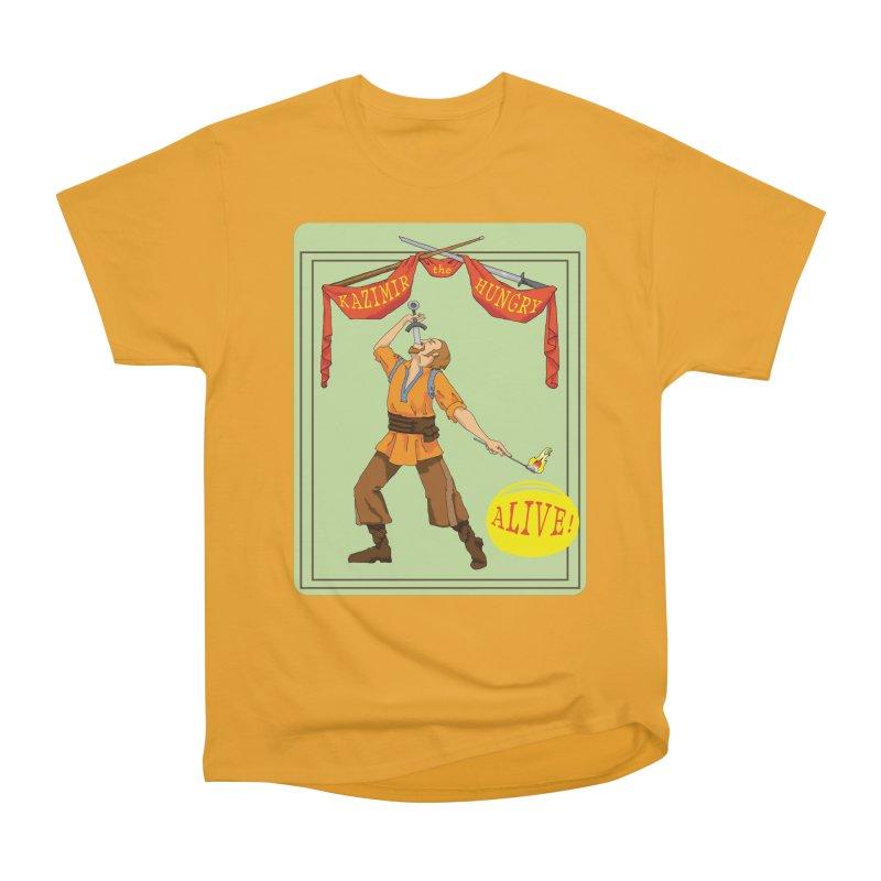 Sideshow Banner Men's Heavyweight T-Shirt by Kazimir the Hungry Merchandise