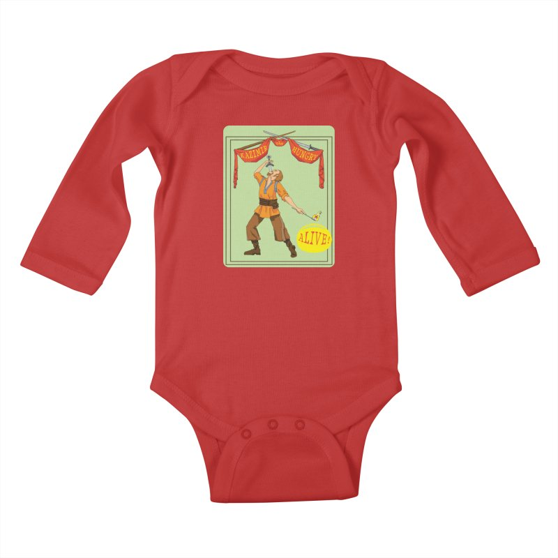 Sideshow Banner Kids Baby Longsleeve Bodysuit by Kazimir the Hungry Merchandise