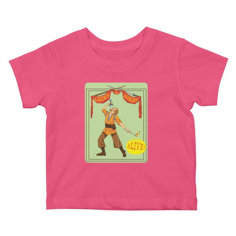 Sideshow Banner Kids Baby T-Shirt by Kazimir the Hungry Merchandise