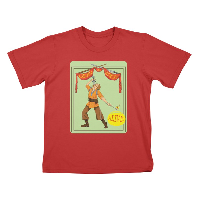 Sideshow Banner Kids T-Shirt by Kazimir the Hungry Merchandise