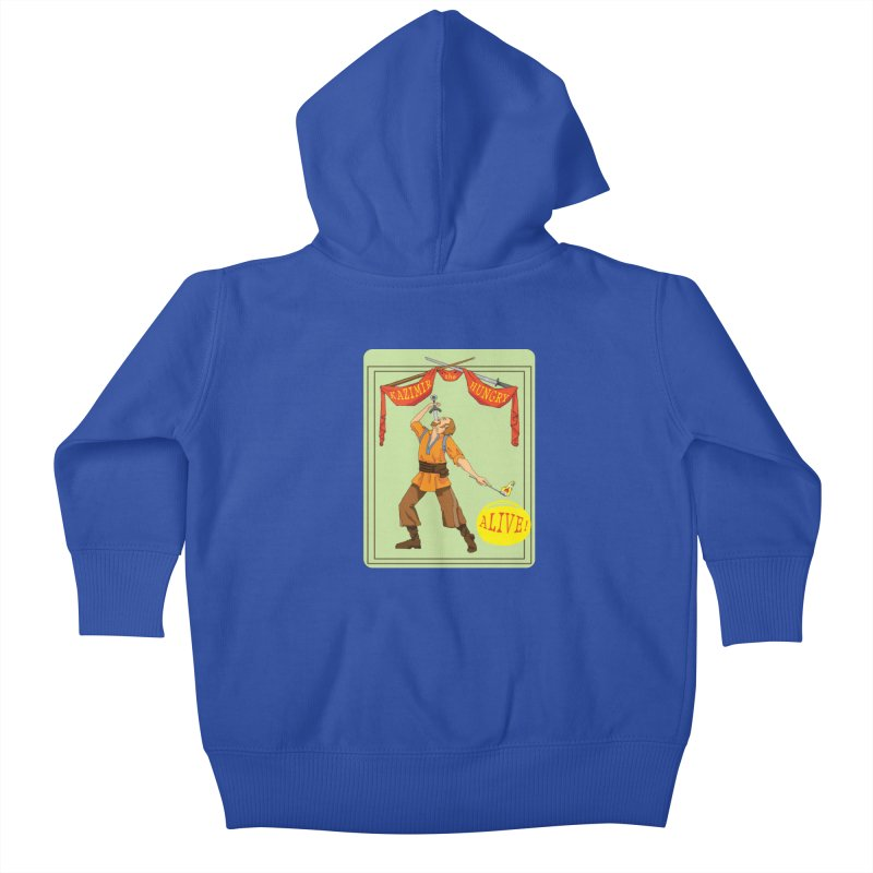 Sideshow Banner Kids Baby Zip-Up Hoody by Kazimir the Hungry Merchandise
