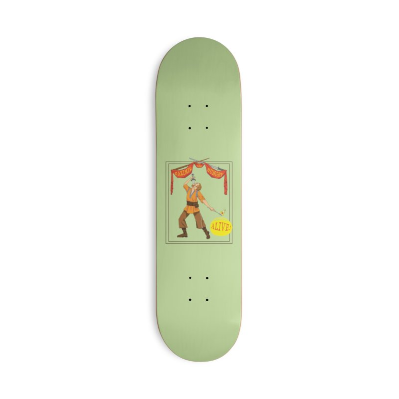 Sideshow Banner Accessories Deck Only Skateboard by Kazimir the Hungry Merchandise