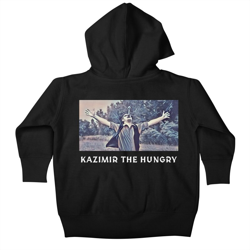 Triumph Dark Kids Baby Zip-Up Hoody by Kazimir the Hungry Merchandise