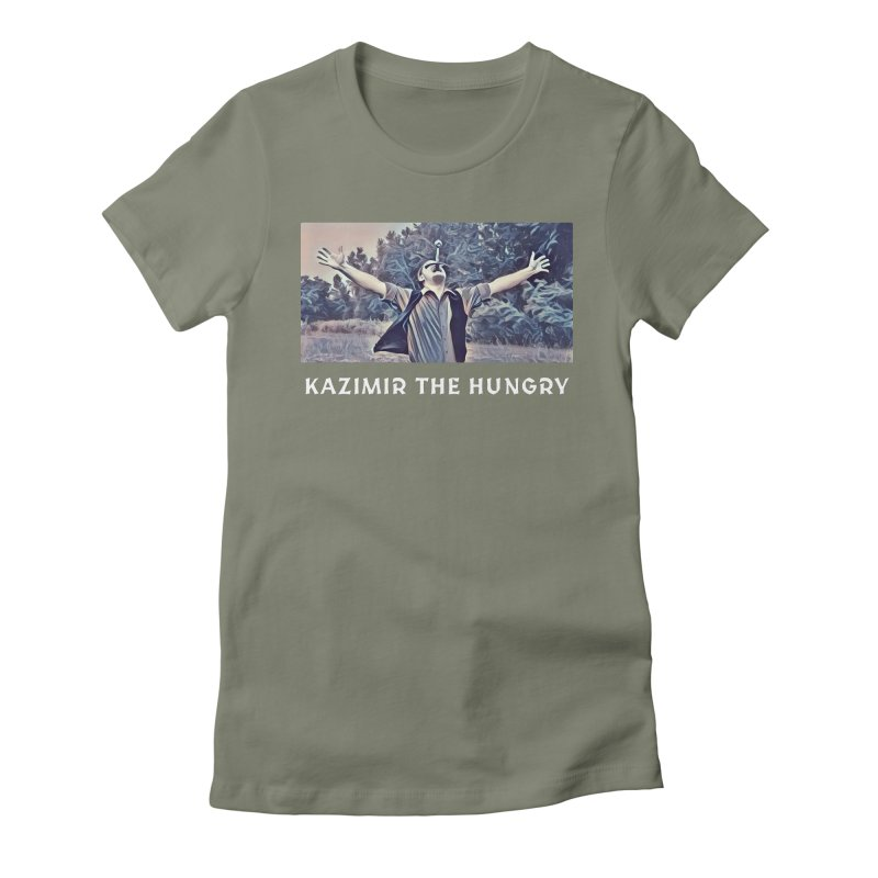 Triumph Dark Women's Fitted T-Shirt by Kazimir the Hungry Merchandise