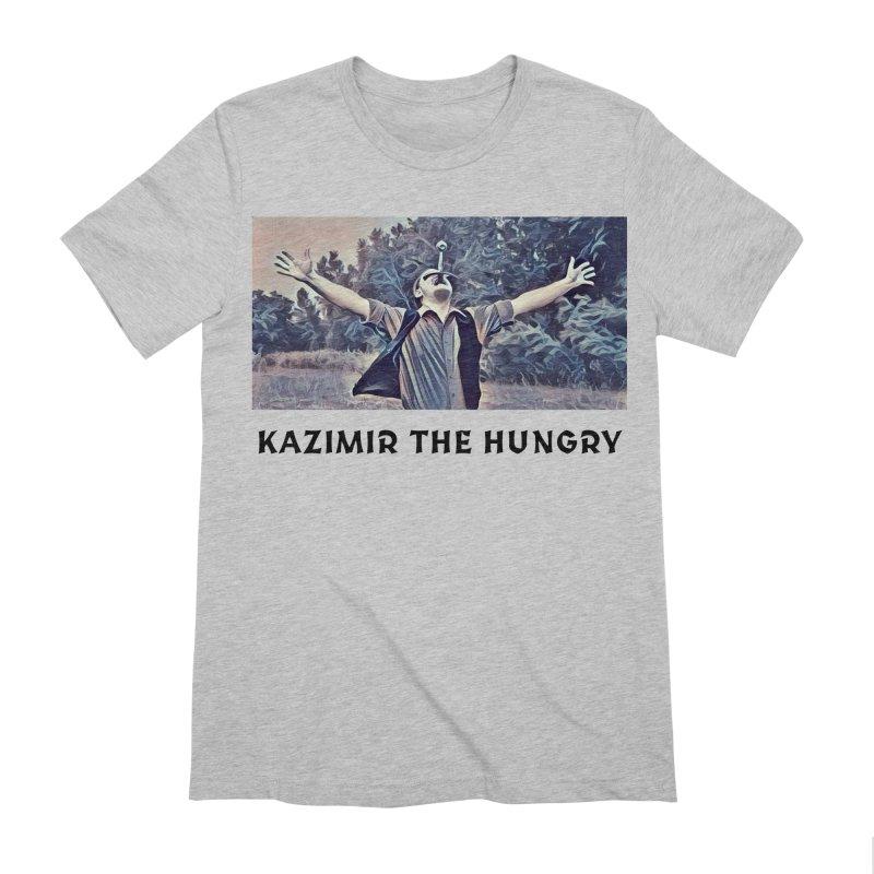 Triumph White Men's Extra Soft T-Shirt by Kazimir the Hungry Merchandise