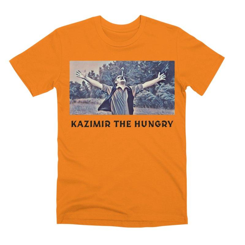 Triumph White Men's Premium T-Shirt by Kazimir the Hungry Merchandise
