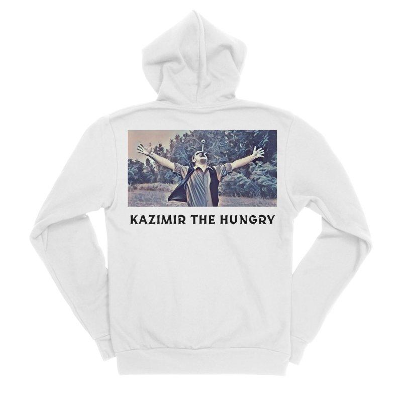 Triumph White Women's Sponge Fleece Zip-Up Hoody by Kazimir the Hungry Merchandise