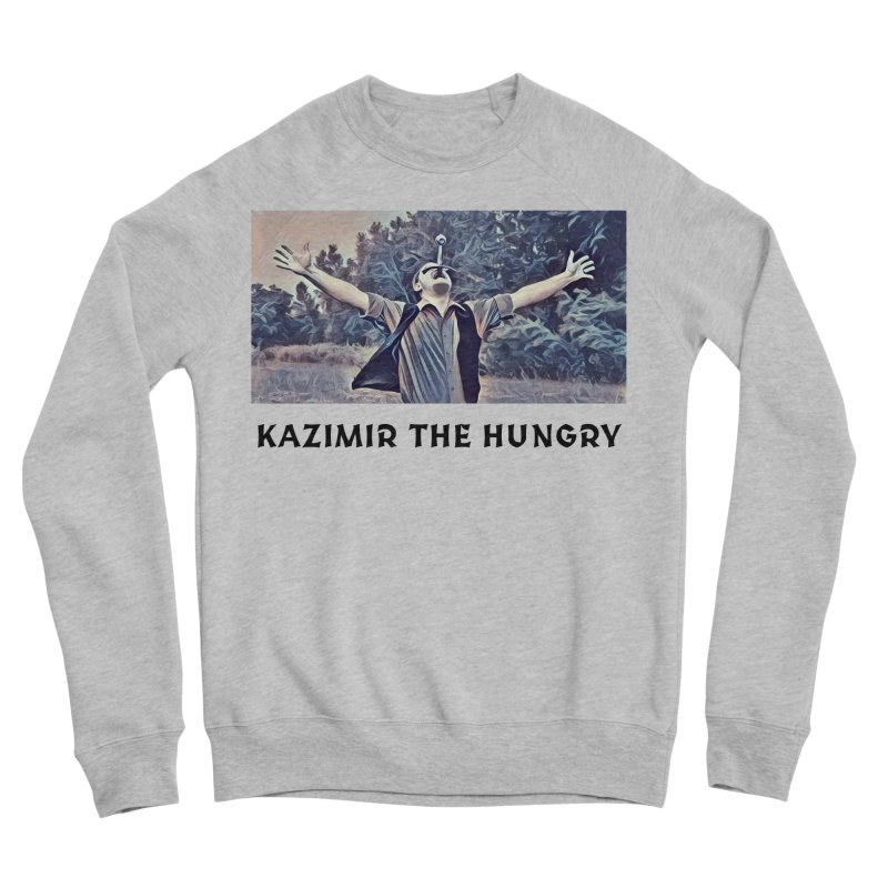 Triumph White Men's Sponge Fleece Sweatshirt by Kazimir the Hungry Merchandise