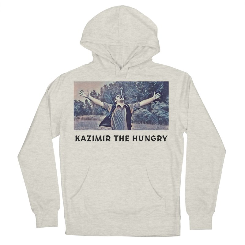 Triumph White Men's French Terry Pullover Hoody by Kazimir the Hungry Merchandise
