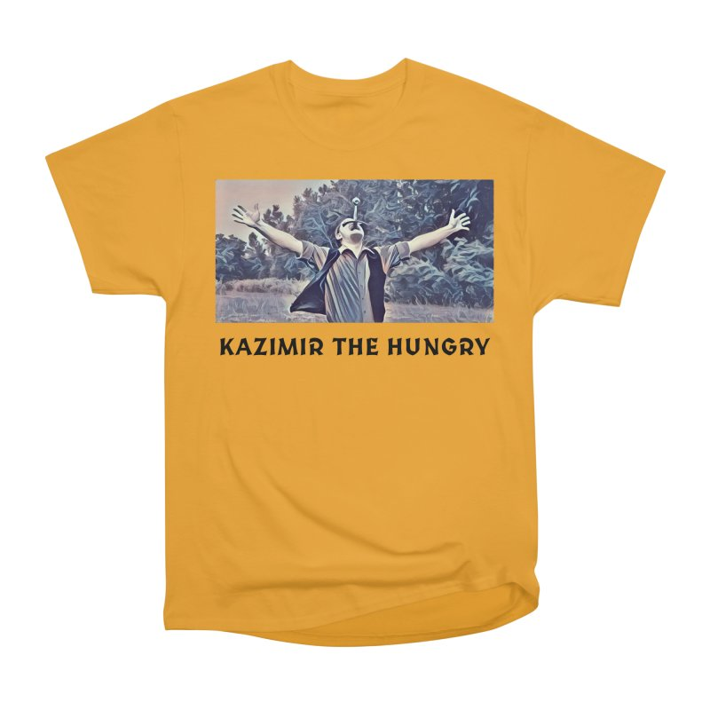 Triumph White Women's Heavyweight Unisex T-Shirt by Kazimir the Hungry Merchandise