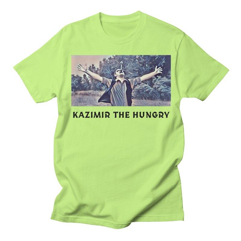 Triumph White Men's Regular T-Shirt by Kazimir the Hungry Merchandise