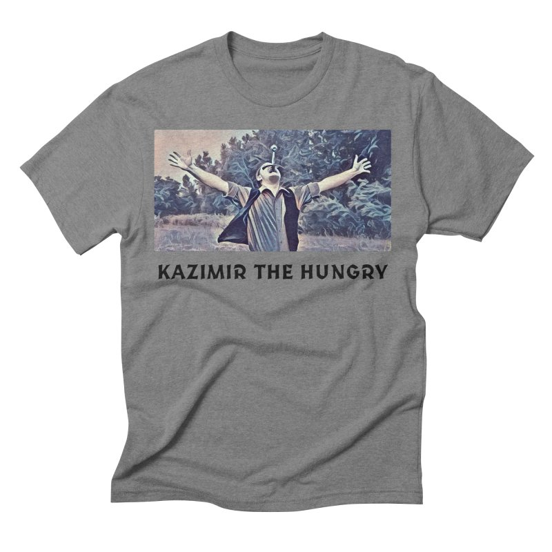 Triumph White Men's Triblend T-Shirt by Kazimir the Hungry Merchandise