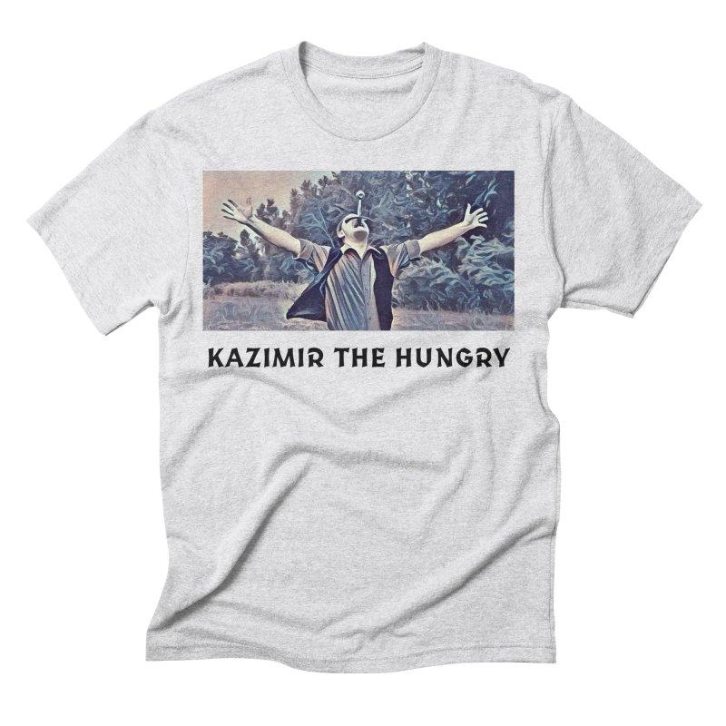 Triumph White Men's Triblend T-Shirt by Kazimir the Hungry Merchandise