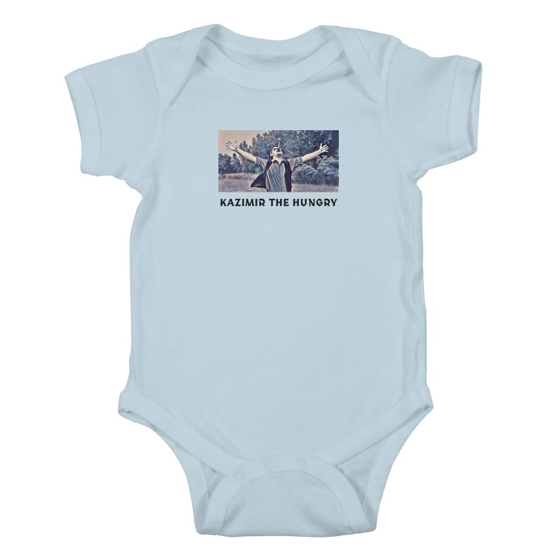 Triumph White Kids Baby Bodysuit by Kazimir the Hungry Merchandise