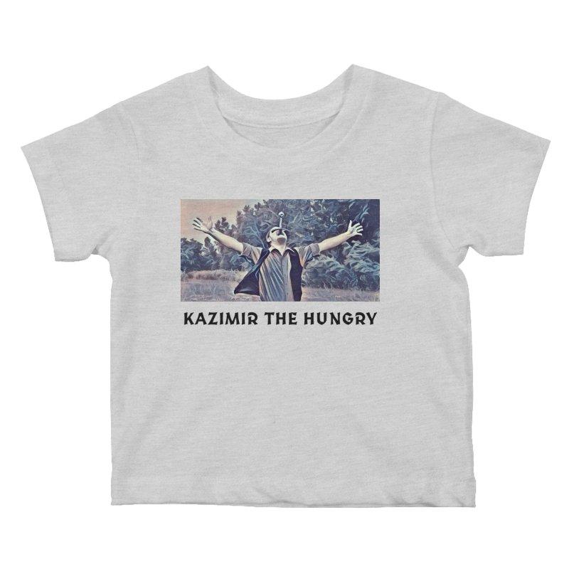 Triumph White Kids Baby T-Shirt by Kazimir the Hungry Merchandise