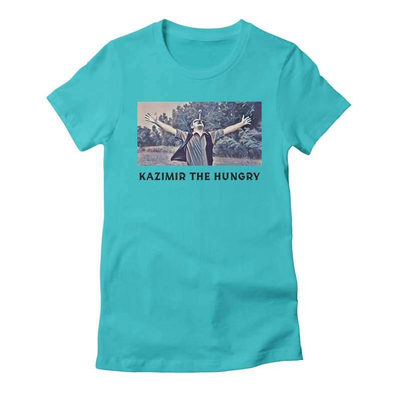 Triumph White Women's Fitted T-Shirt by Kazimir the Hungry Merchandise