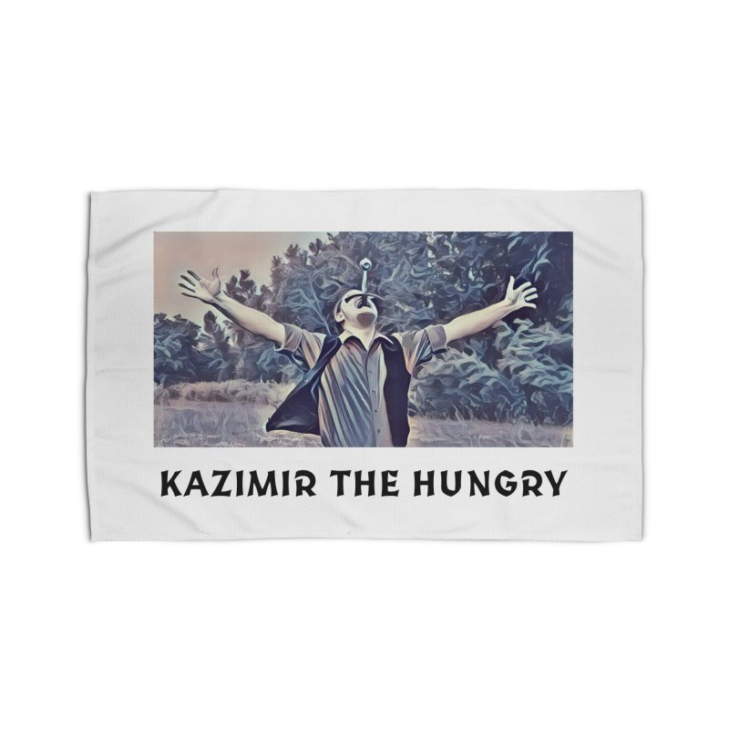 Triumph White Home Rug by Kazimir the Hungry Merchandise