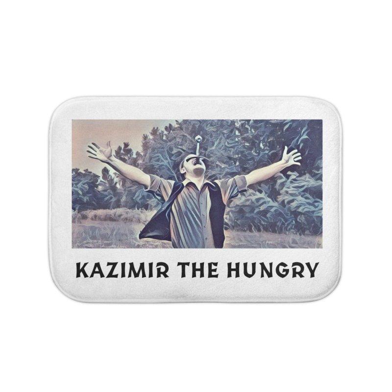 Triumph White Home Bath Mat by Kazimir the Hungry Merchandise