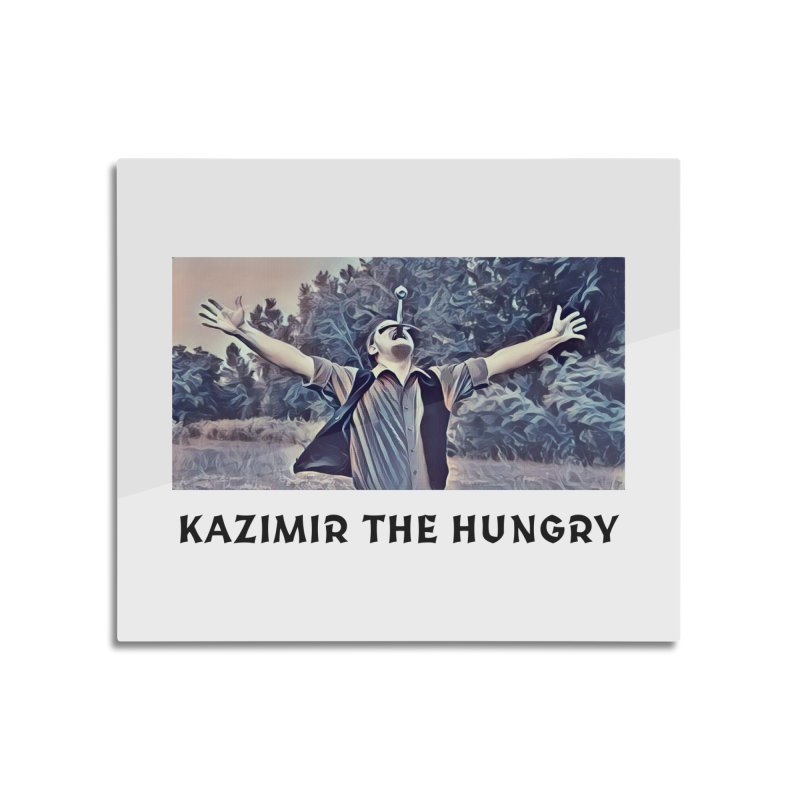 Triumph White Home Mounted Aluminum Print by Kazimir the Hungry Merchandise