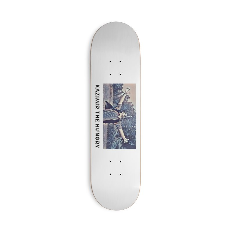 Triumph White Accessories Deck Only Skateboard by Kazimir the Hungry Merchandise