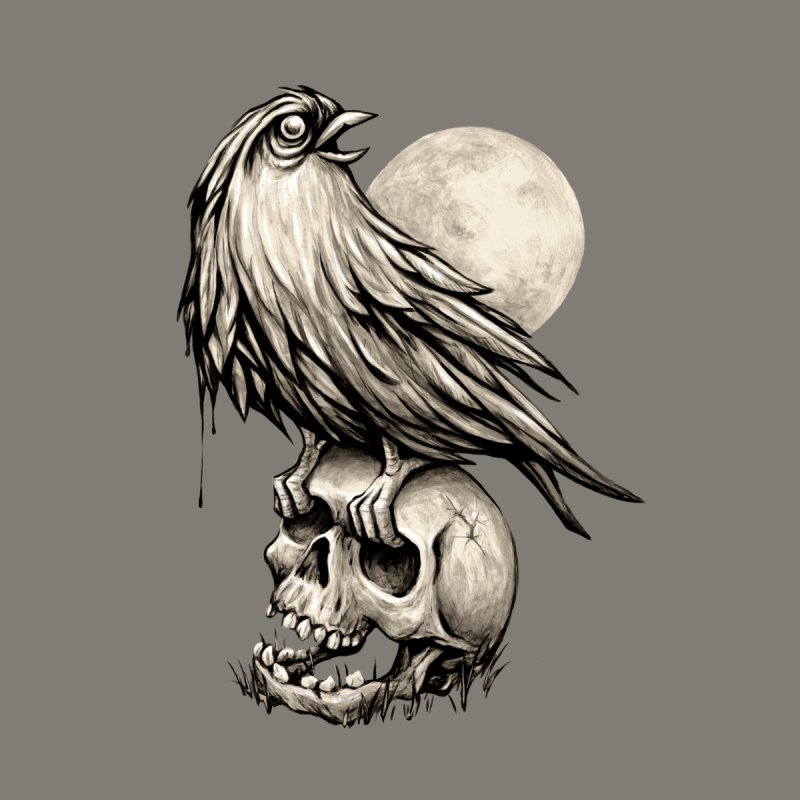 Zombie Bird None  by kcarterart's Artist Shop