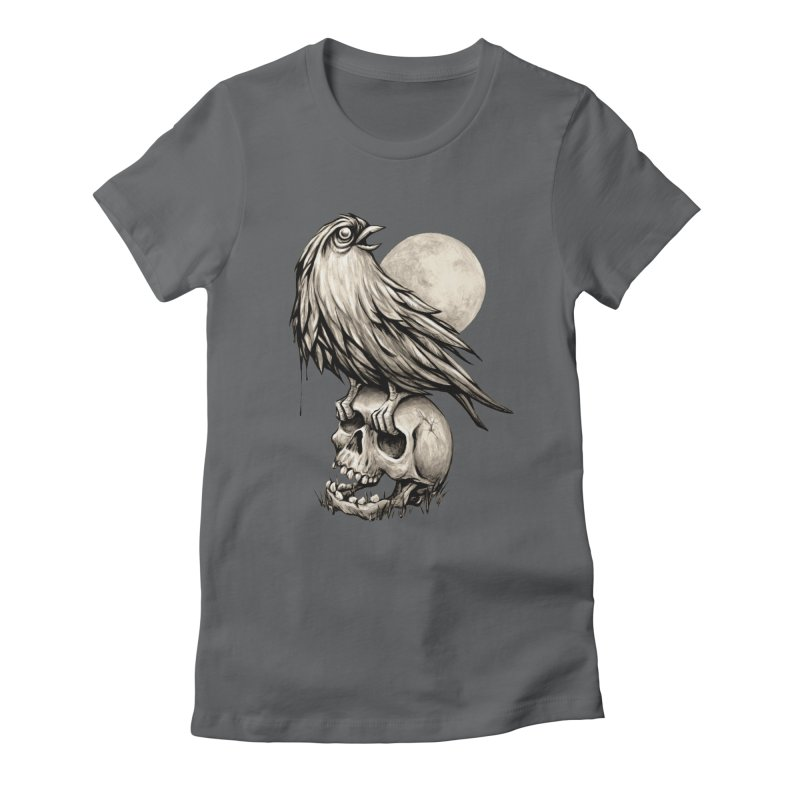 Zombie Bird Women's Fitted T-Shirt by kcarterart's Artist Shop