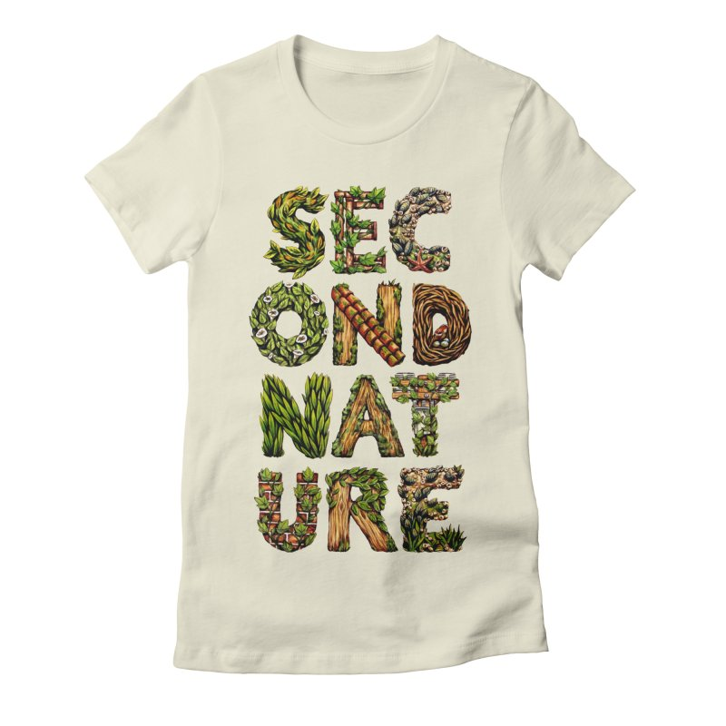 Second Nature Women's Fitted T-Shirt by kcarterart's Artist Shop