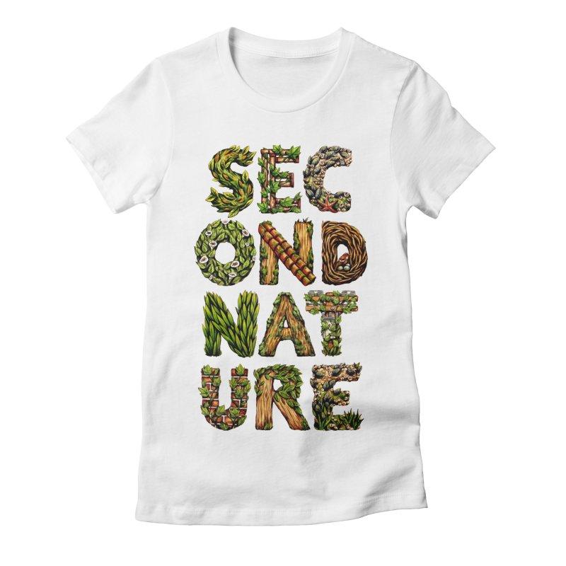 Second Nature Women's Fitted T-Shirt by kcarterart's Artist Shop