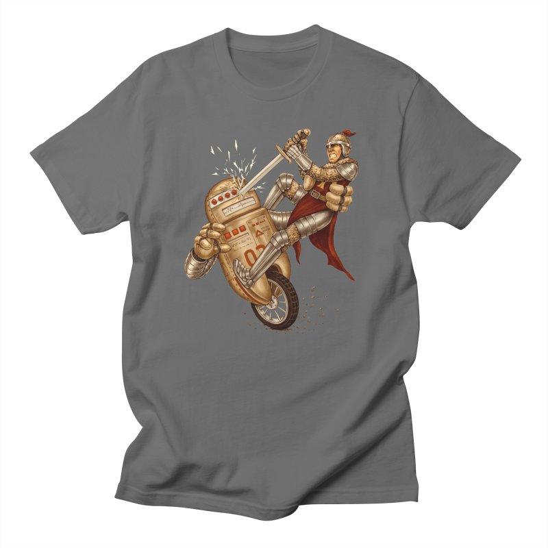 Knight VS Robot Men's Regular T-Shirt by kcarterart's Artist Shop