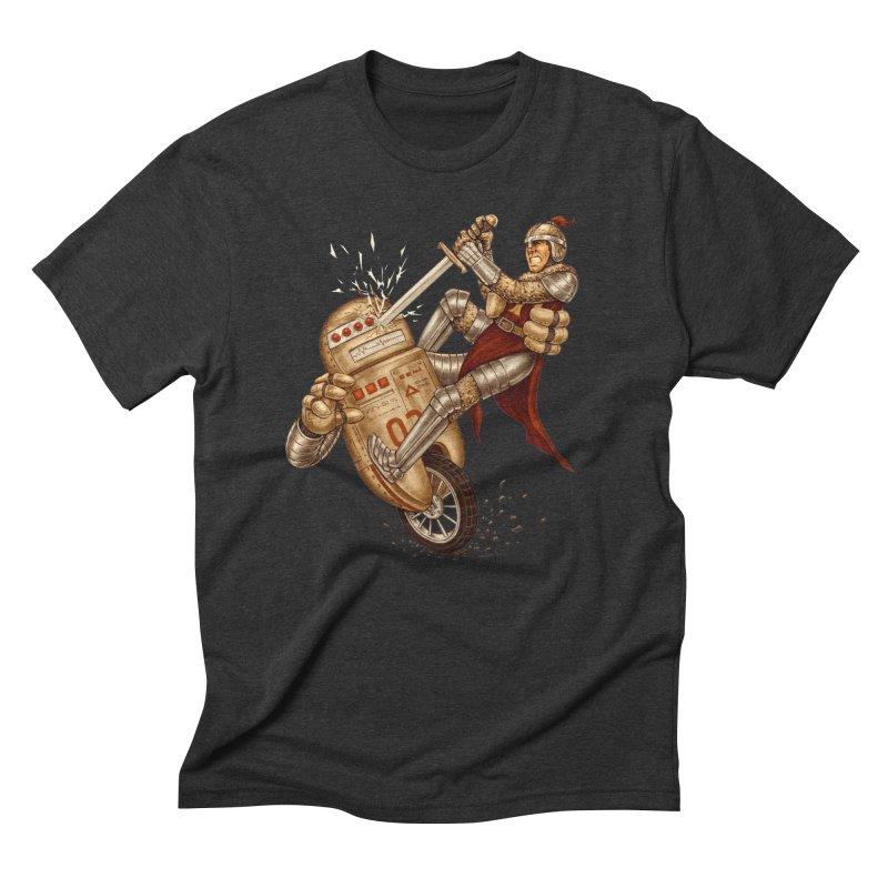 Knight VS Robot Men's Triblend T-Shirt by kcarterart's Artist Shop