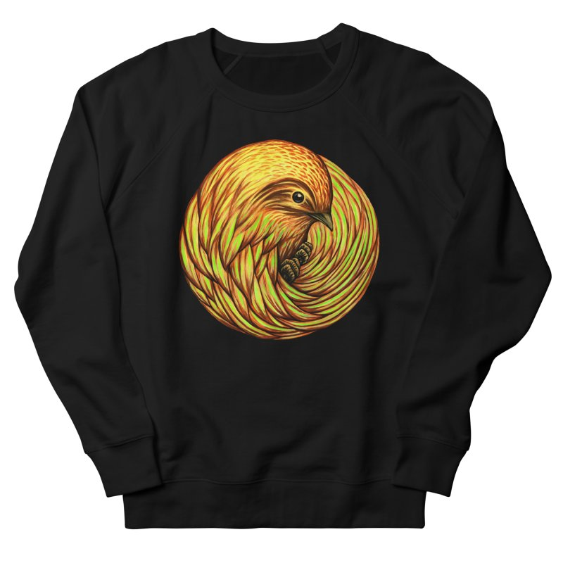 Bird Spiral Men's French Terry Sweatshirt by kcarterart's Artist Shop