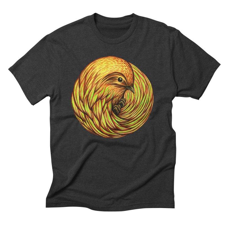 Bird Spiral Men's Triblend T-shirt by kcarterart's Artist Shop