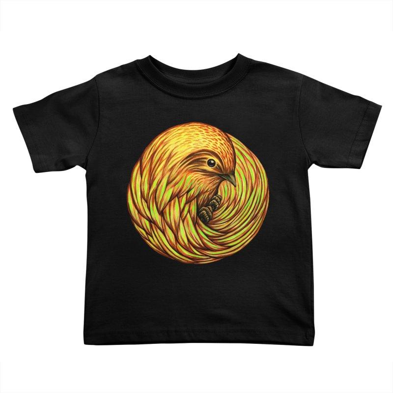 Bird Spiral Kids Toddler T-Shirt by kcarterart's Artist Shop