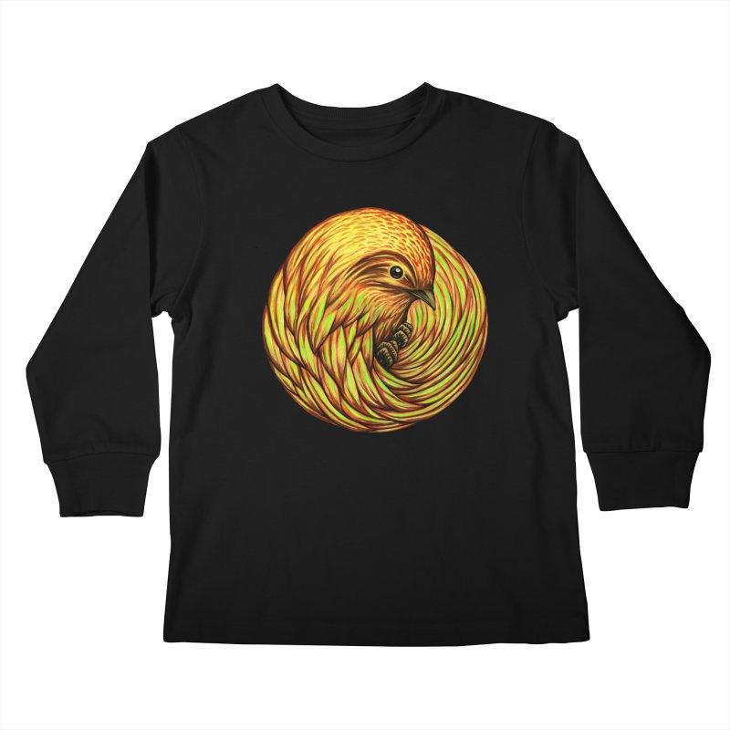 Bird Spiral Kids Longsleeve T-Shirt by kcarterart's Artist Shop