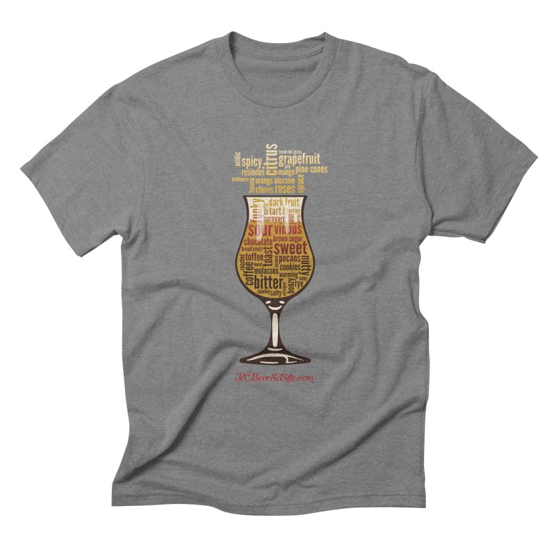 Tasting Glass – Fancy Men's Triblend T-Shirt by KC Beer Scouts Outfitters
