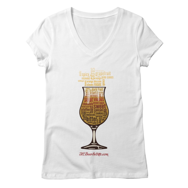 Fancy beer words. Women's Regular V-Neck by KC Beer Scouts Outfitters