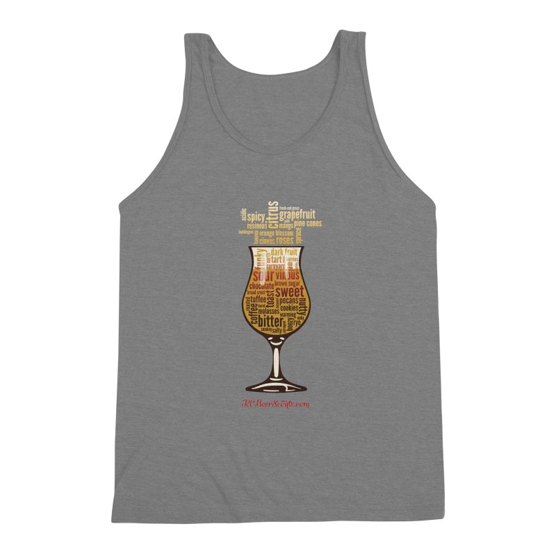 Tasting Glass – Fancy Men's Triblend Tank by KC Beer Scouts Outfitters