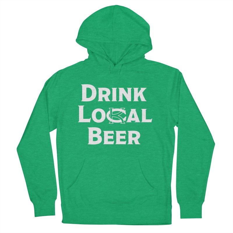 Drink Local Beer Men's French Terry Pullover Hoody by KC Beer Scouts Outfitters