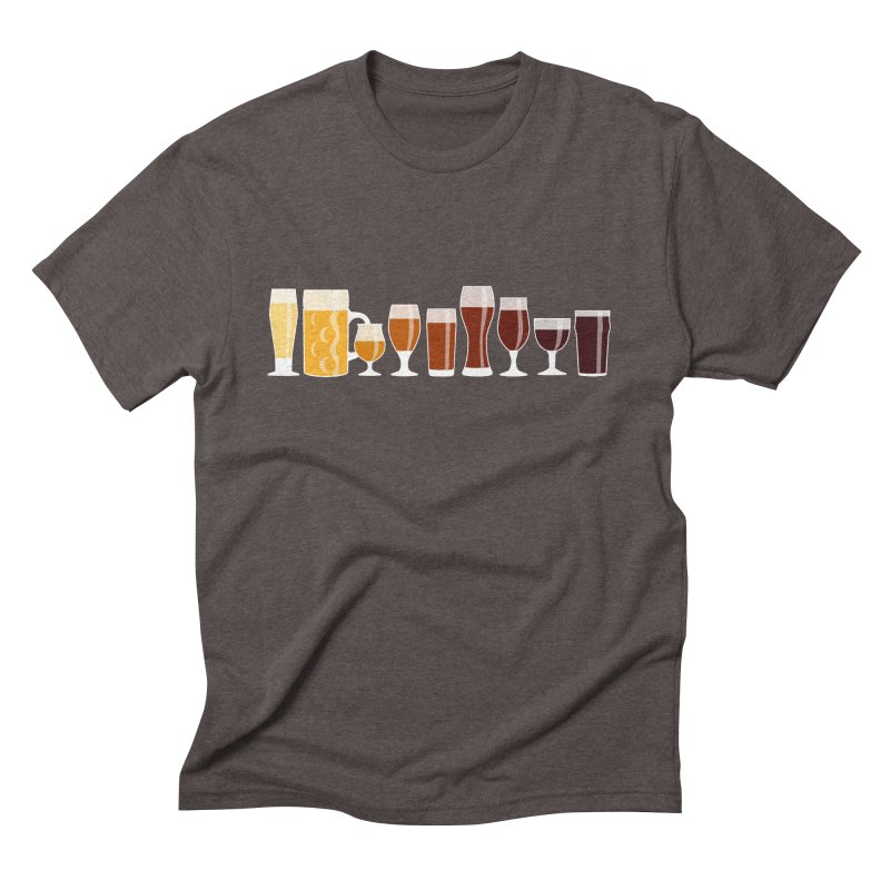 Glassware Rainbow Men's Triblend T-Shirt by KC Beer Scouts Outfitters