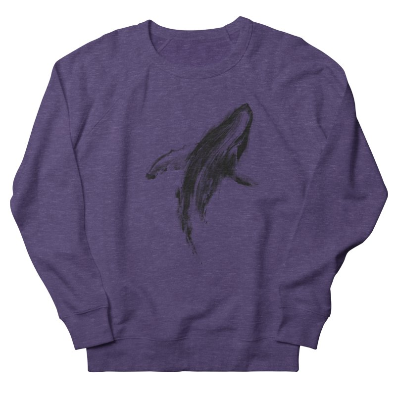 Whale Women's French Terry Sweatshirt by kdeuce's Artist Shop