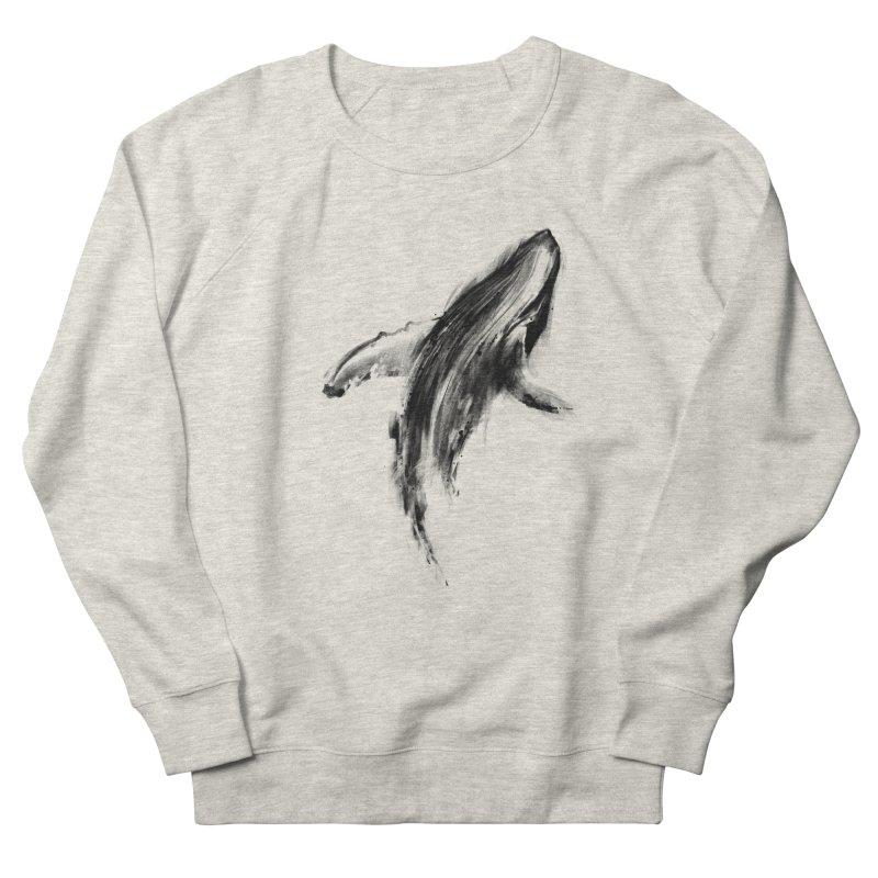 Whale Women's French Terry Sweatshirt by kdeuce's Artist Shop