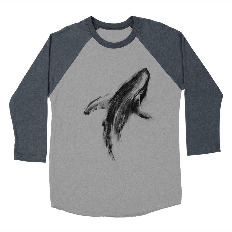 Whale Women's Baseball Triblend Longsleeve T-Shirt by kdeuce's Artist Shop