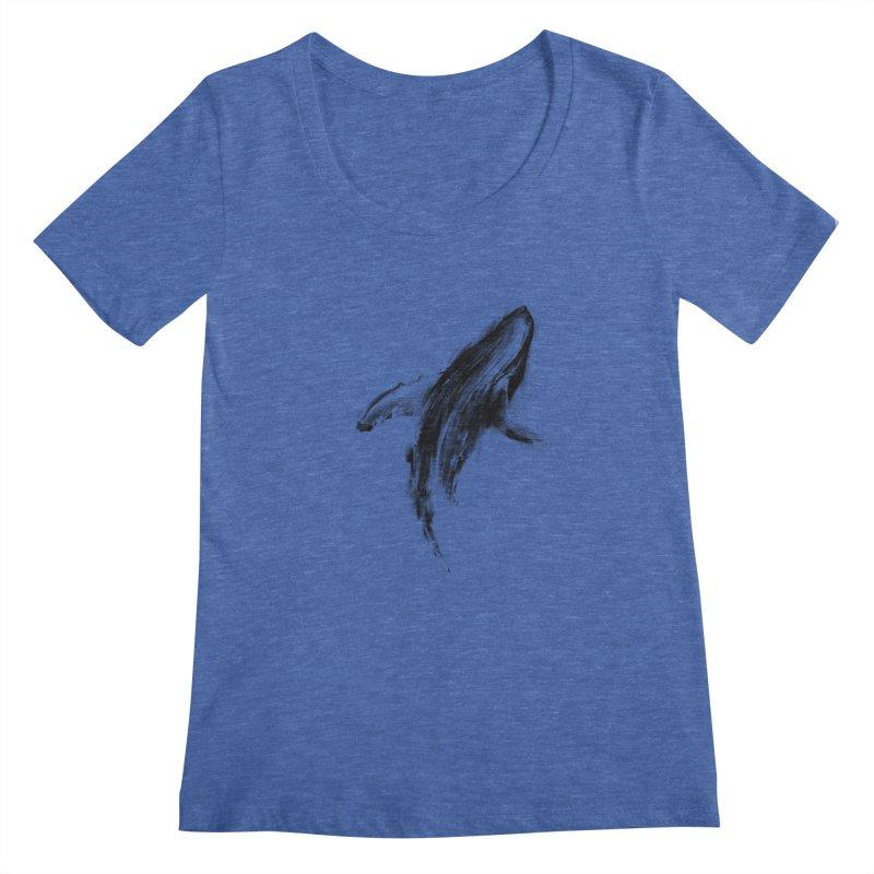 Whale Women's Scoopneck by kdeuce's Artist Shop
